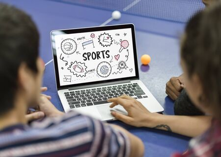 Illustration of various sports icon competition Stock Photo