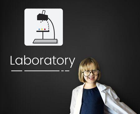 pretending: Scientific experiment laboratory study research Stock Photo