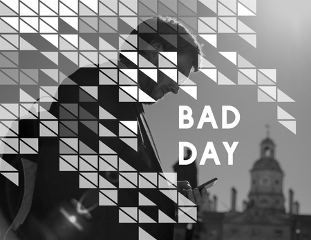 Bad day word young people Stock Photo