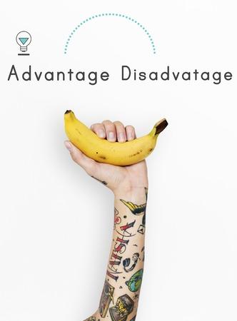 Antonym Opposite Increase Decrease Advantage Svantaggio Archivio Fotografico - 81134334