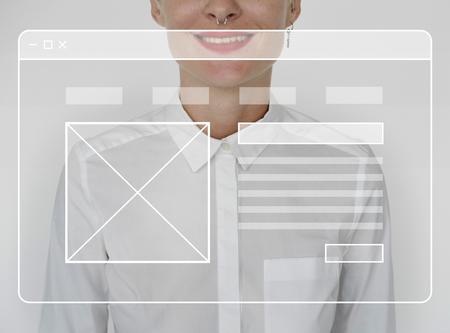 コピー スペースと web デザイン ユーザー インターフェイス 写真素材