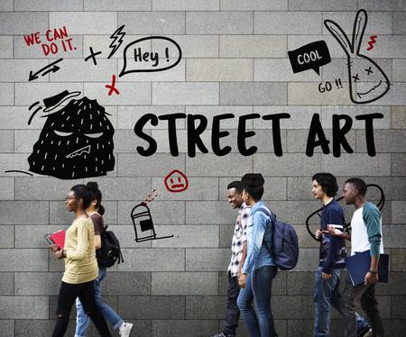 Illustratie van graffiti straat kunst cultuur