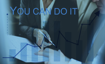 You Can Do It Quote Aspiration Optimistic Stock Photo