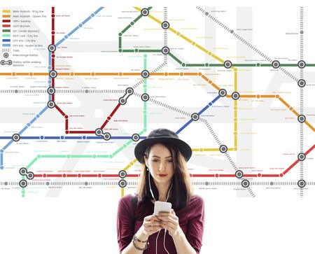 Routekaart Bestemming Navigatie Richtplan Stockfoto