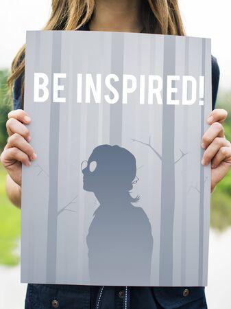 Inspired Creative Motivation Imagination Stock fotó
