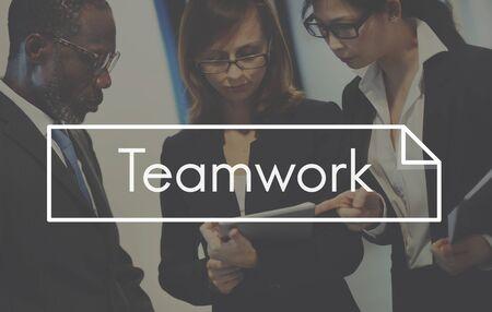 비즈니스 팀웍 팀 구성 전략 계획 스톡 콘텐츠