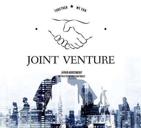 합작 투자 파트너십 팀웍 지원 핸드 셰이크 그래픽 스톡 콘텐츠
