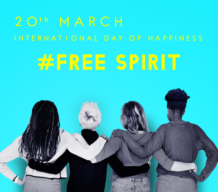seize: Happy International Day Of Happiness Concept