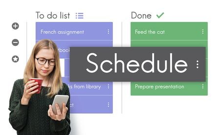 roster: Digital To do List App Interface Stock Photo