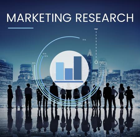비즈니스 마케팅 조사 차트의 그래픽