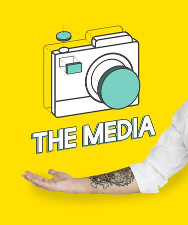 cam: Digital camera illustration photography graphic Stock Photo