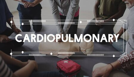 chest compression: CPR Training Demonstration Class Emergency Life  Rescue