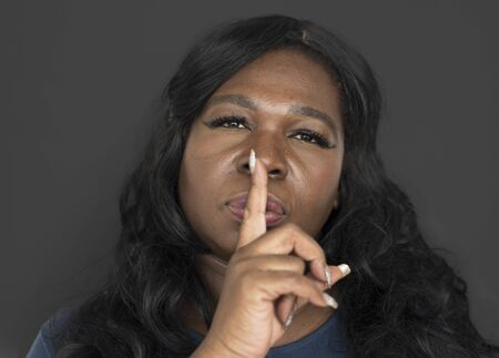 rumour: African Woman Studio Shoot Portrait People Race Stock Photo