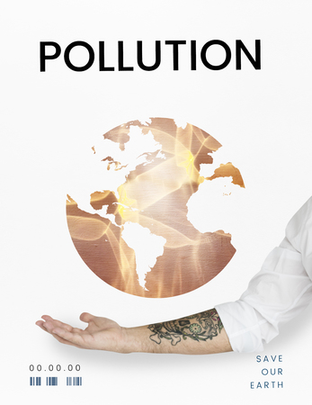 Global environment ecology pollution graphic Stock Photo