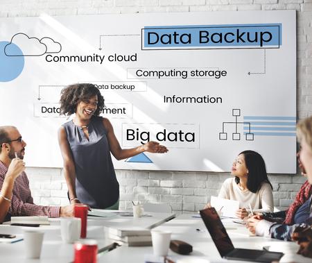 Cloud Data Storage-technologie Scheme Stockfoto