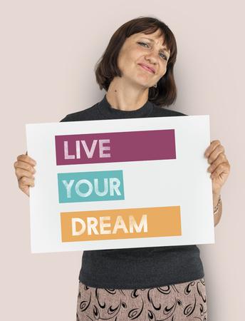 Live Your Dream Believe Inspiration Motivation Vision Stock Photo