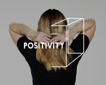 긍정적 태도 선택 초점 사고 스톡 콘텐츠