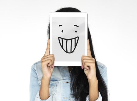 Glimlach Geluk Vrolijk Feeling Emotie Expressie Grafisch