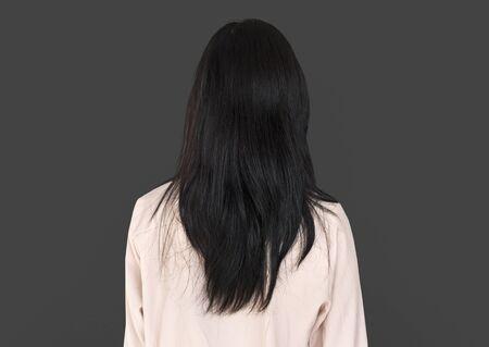 Young Asian Adult Woman Backside Studio Portrait