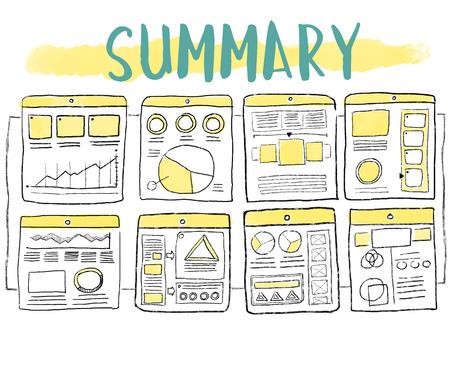 Summary illustration concept