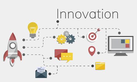 Business Venture Strategy Diagram Concept Stockfoto