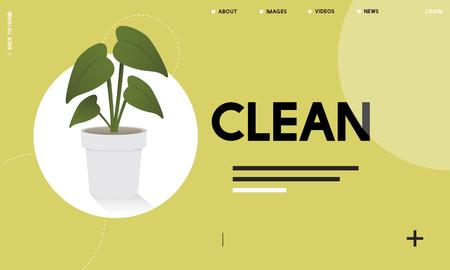 Plant symbol environmental green graphic Stok Fotoğraf