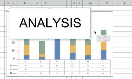 Tableau d'évaluation de l'analyse des prévisions Banque d'images - 81371665
