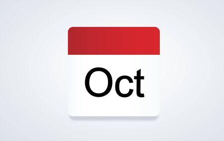 Illustrazione del calendario pianificazione pianificazione Archivio Fotografico - 81475070