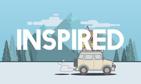 発見の旅道路旅行旅行のイラスト