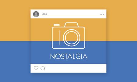 Social media con fotocamera icona grafica Archivio Fotografico - 81475065