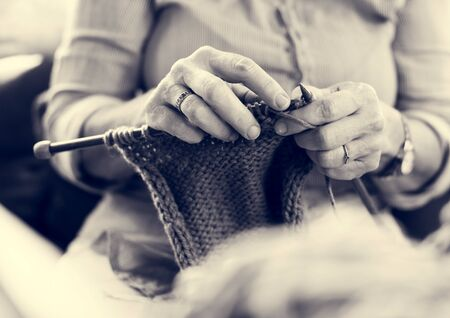 Knitting Chilling Rest Leisure Activity 版權商用圖片