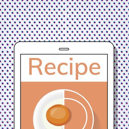 Illustration of healthy food cuisine menu recipe Stock fotó - 81390258