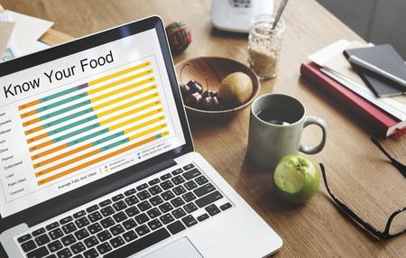 栄養物の事実の比較食品下げれば 写真素材