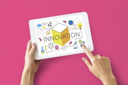 innovate: Illustration of innovation technology invention
