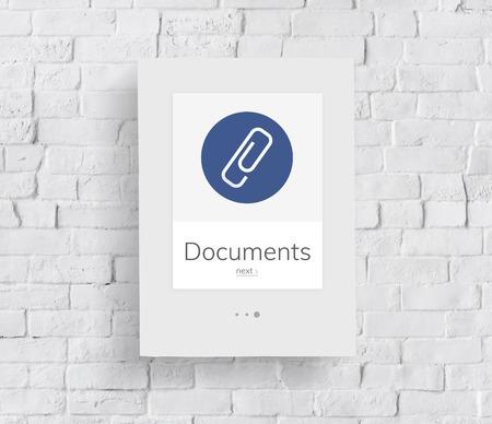 Document Clip Mail File Attachment Graphic Banque d'images - 81440424