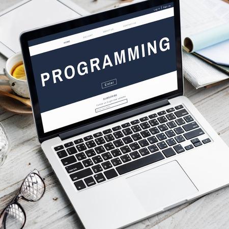 techie: Programming HTML Coding Technology Icon
