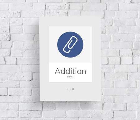 ペーパー クリップ メールのファイル添付ファイルのアイコン