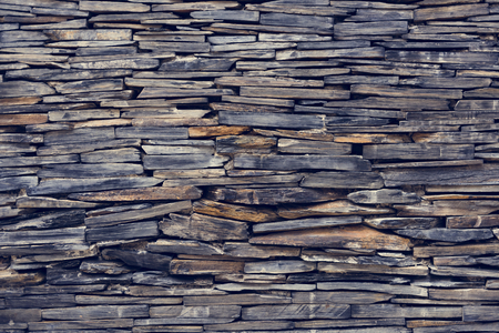 Stack of wooden wall as background