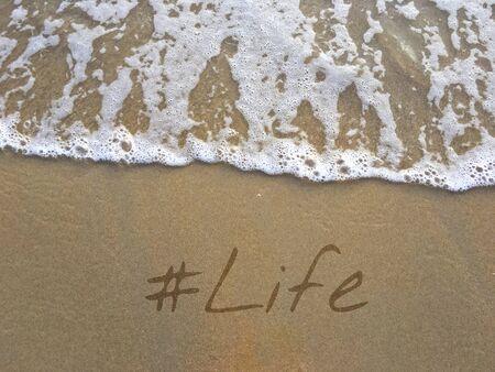 Life Lifestyle Vakantie Weekend Word Stockfoto