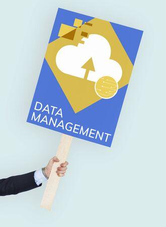 protester: Data Center Management Backup Concept Stock Photo