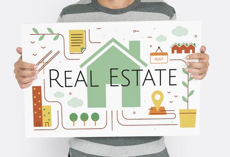 for rental: Real Estate Housing Brokerage Concept