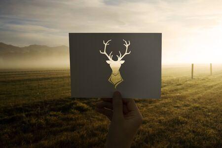 Dierlijk geperforeerde papieren eland van het wilde leven