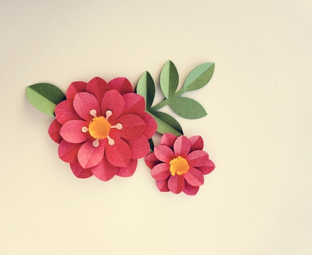 Handmade Papercraft Flowers Stock Photo Picture And Royalty Free