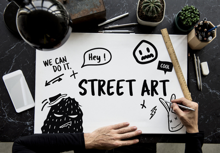 Illustration of graffiti street art culture Фото со стока - 81374850
