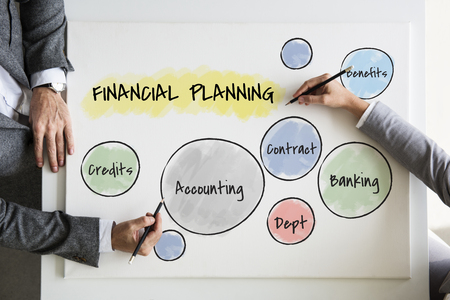 Financial planning concept Stock Photo