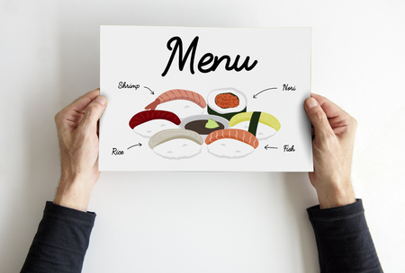 Japanese Food Meal Menu Concept