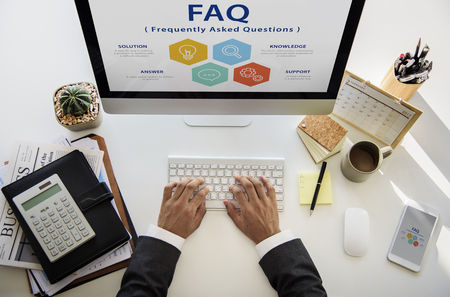 Frequently Asked Question Information Reponse Stok Fotoğraf - 81375477