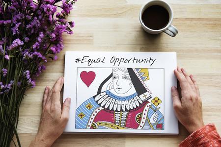 Karten Deck Königin Herz Geschlecht Gleichheit Standard-Bild - 81375880