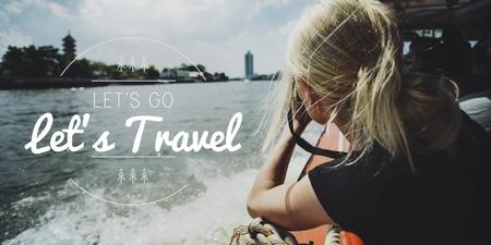 Lets Go Explore Travel Words Graphic