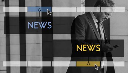 News overlay word young people Stock Photo